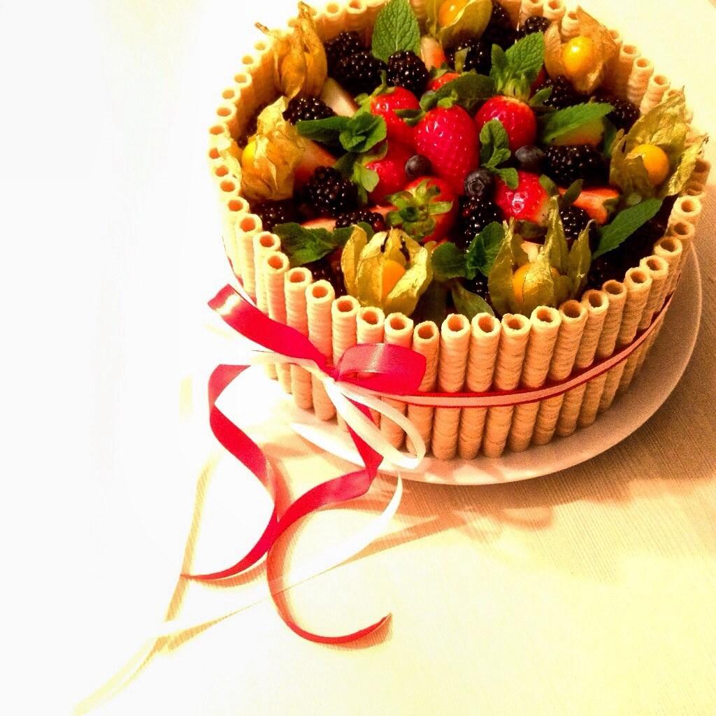 домашний торт с ягодами рецепт