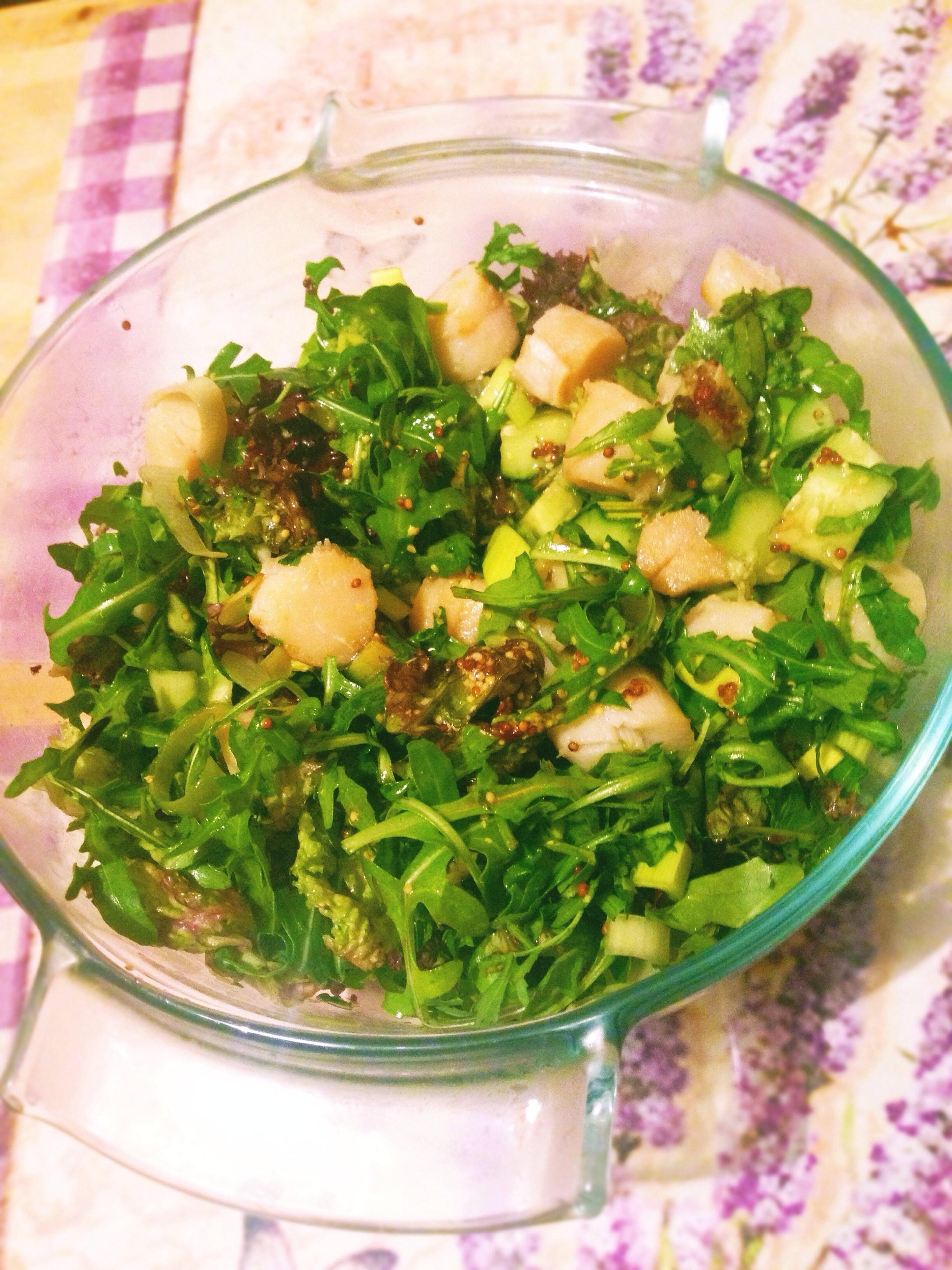 Салат из гребешков рецепт очень вкусный