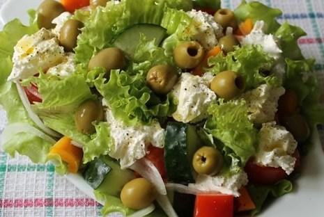 Салаты типа греческого рецепты
