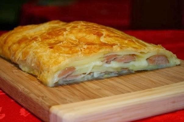 Пирог с картофелем и сосиской калорийность