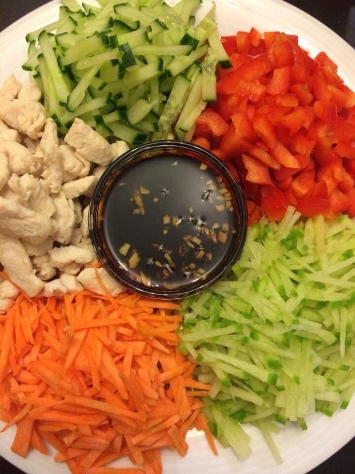 Овощной салат с соевым соусом рецепт с пошагово