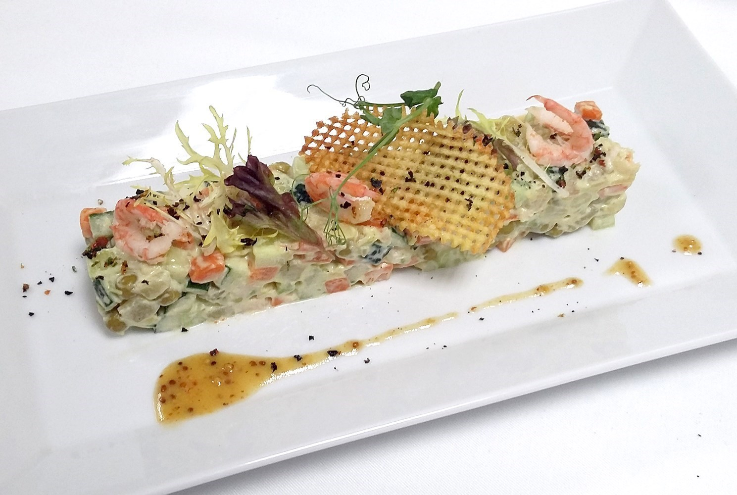 выборе салат с креветками и медово горчичным соусом подобранное термобелье