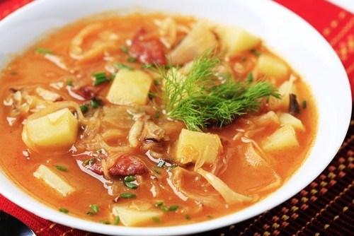 суп из свинины с картошкой и капустой
