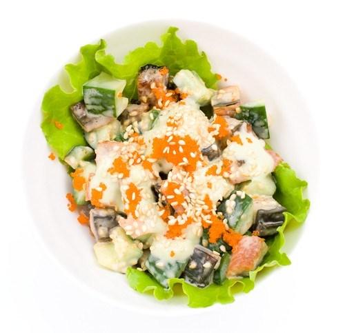 Салат с семгой сельдереем