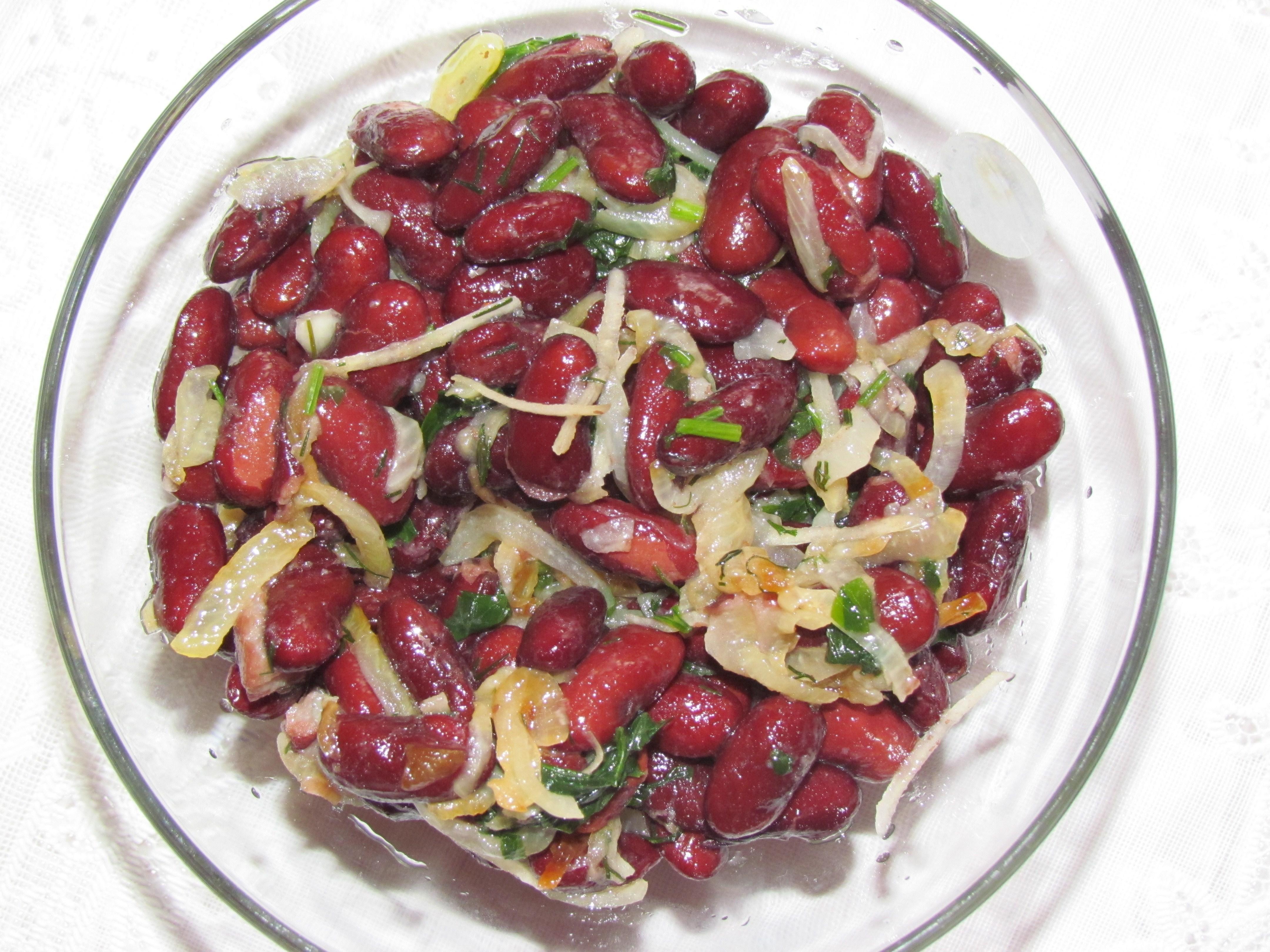 рецепты салат сердце с грибами и красной фасолью