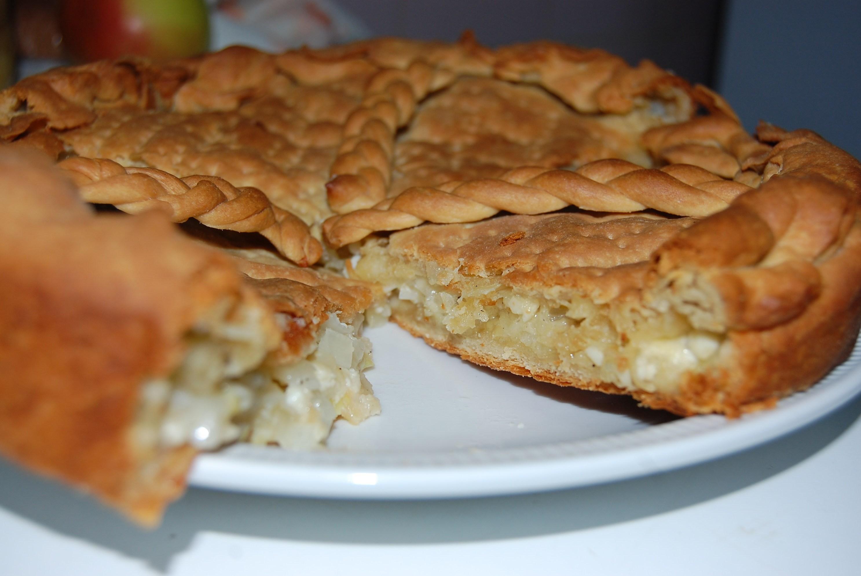 Луково сырный пирог рецепт