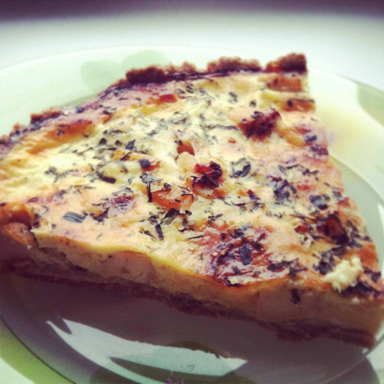 Киш рецепт с курицей и сыром