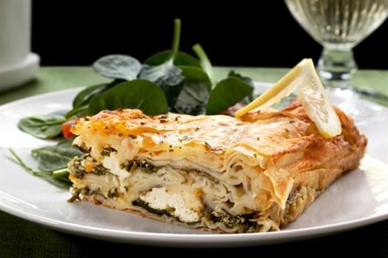 Пирог со шпинатом греческий