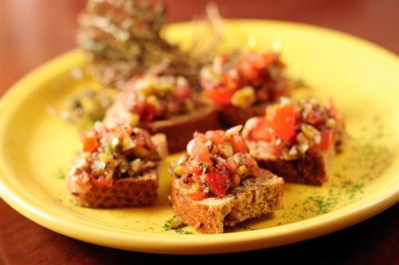 гренки с овощами рецепт