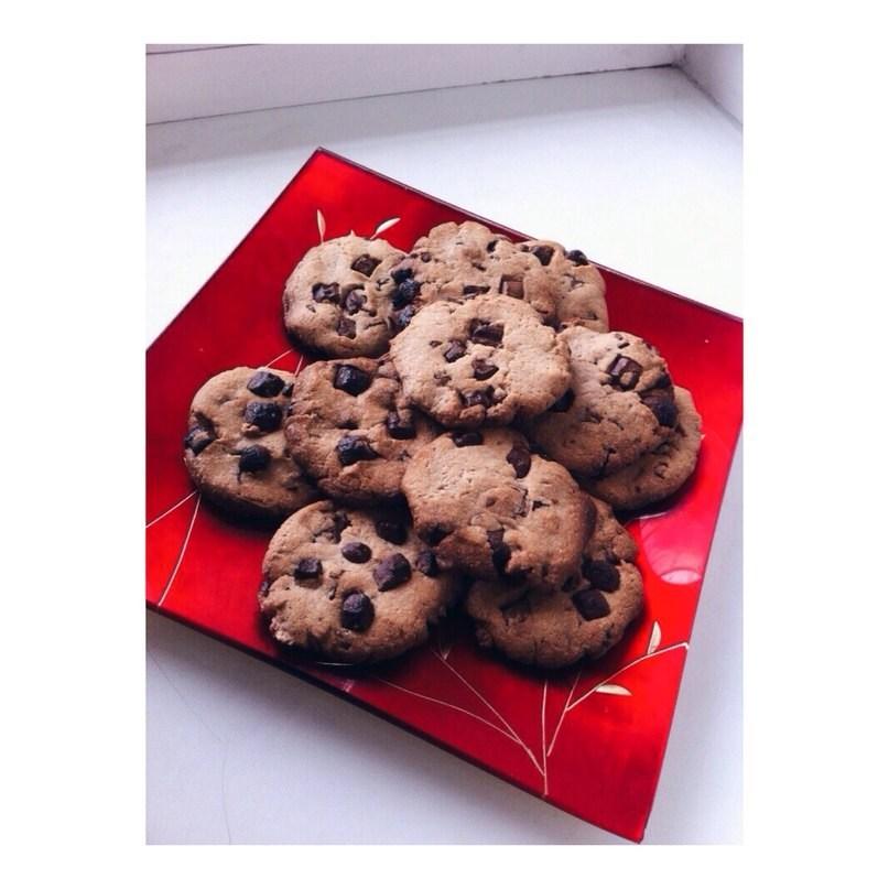 шоколадное печенье рецепт с фото с кусочками шоколада