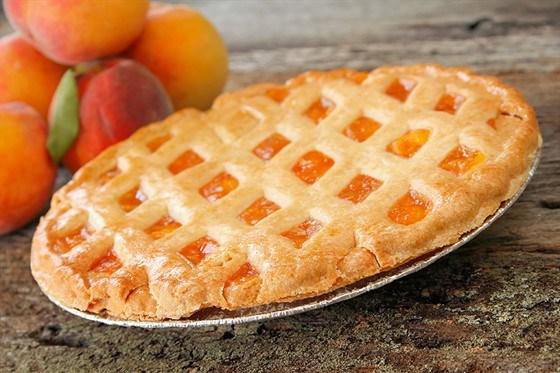 пирог с консервированными персиками рецепт с фото