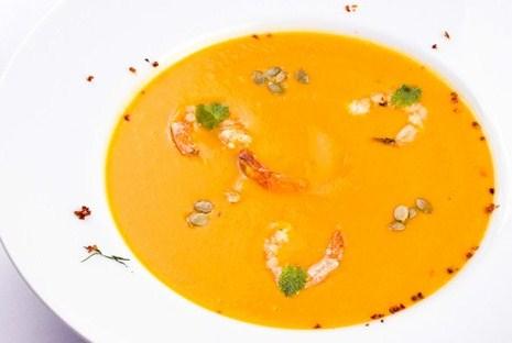 суп с тыквы с креветками рецепт с фото
