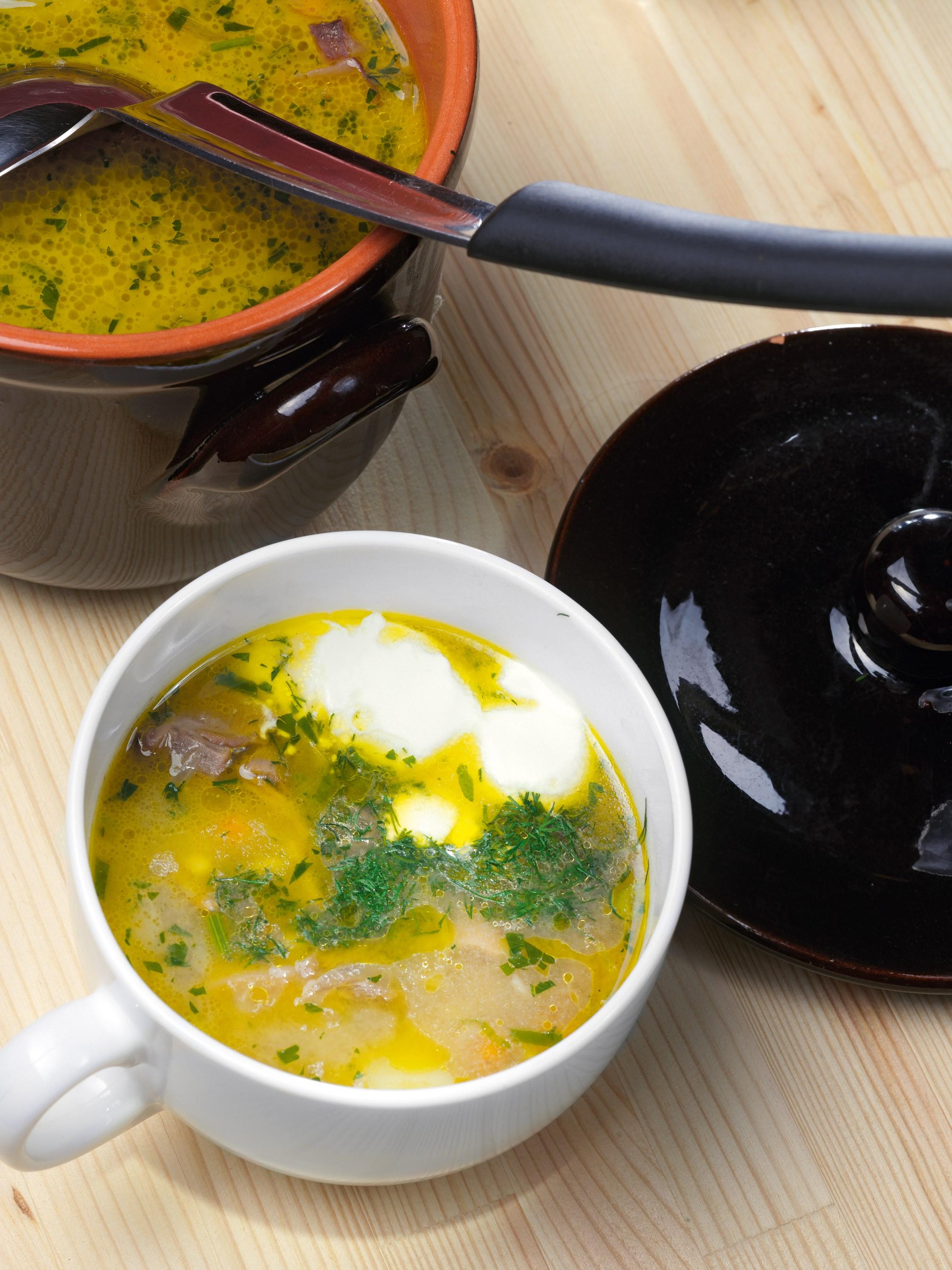 рецепт супа поливка с грибами и перловкой