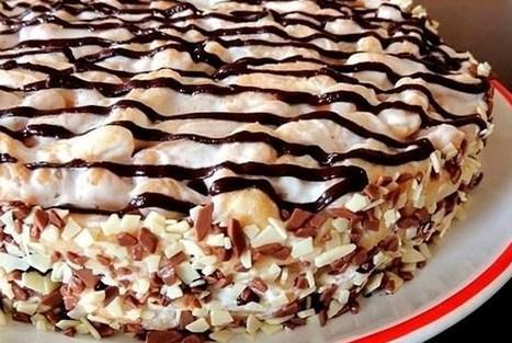 Торт поленница со сметанным кремом