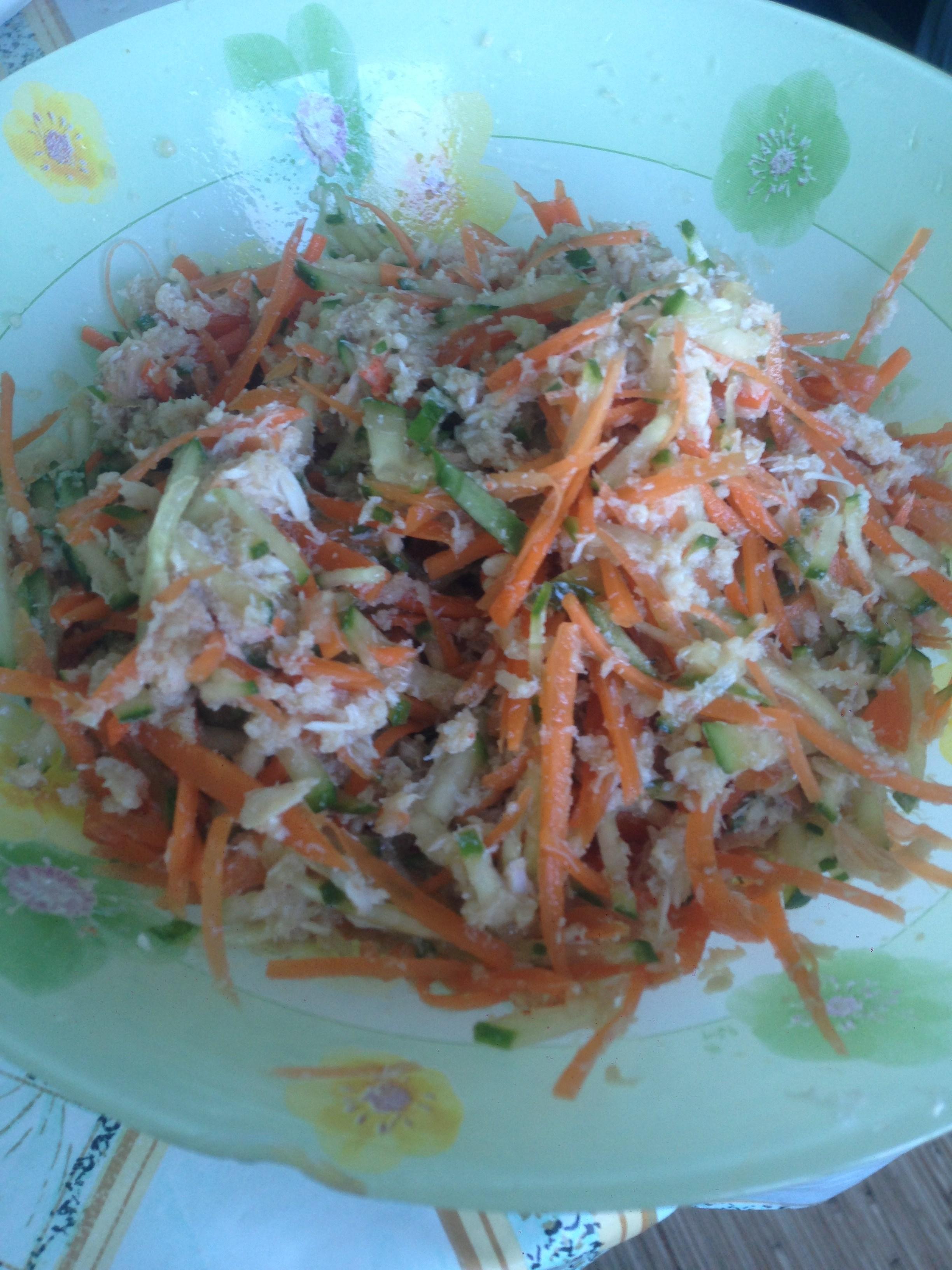 Салат с мясом пошагово