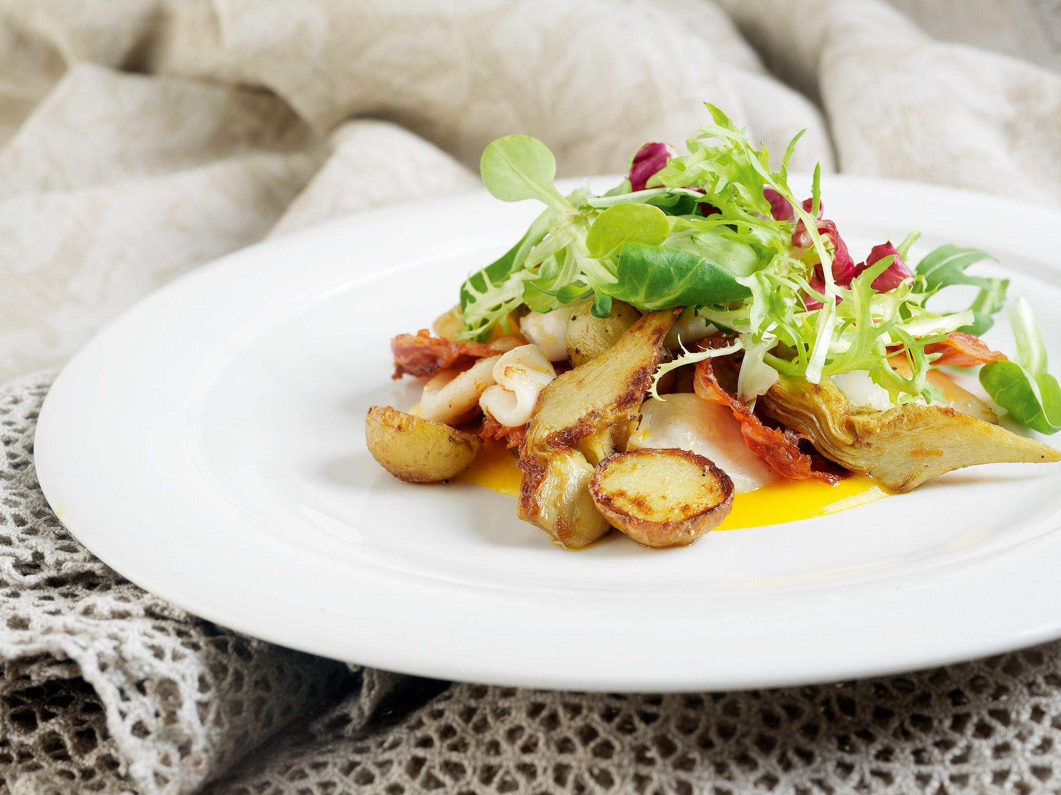 Салат с сушеным кальмаром рецепты с фото