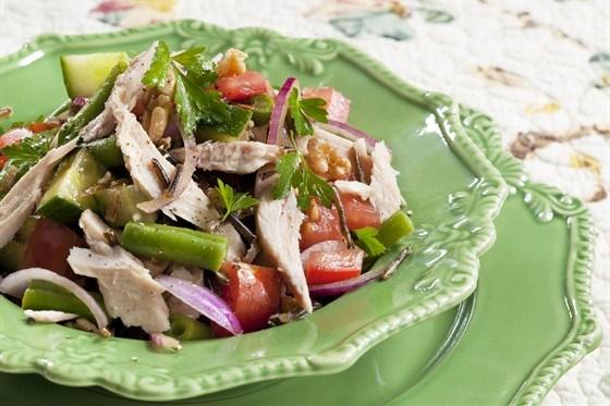 теплый салат с тунцом рецепт