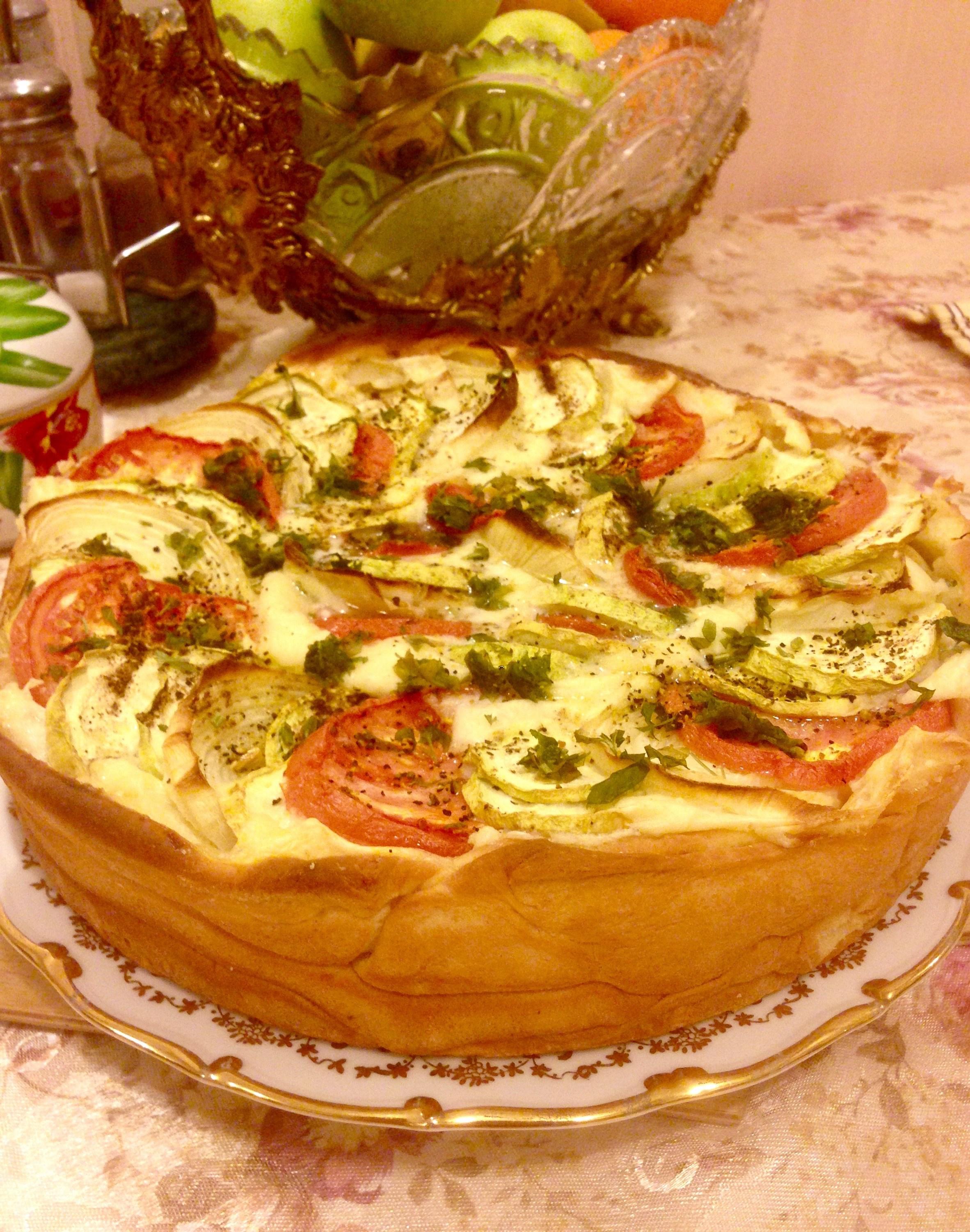 Рецепт пирога с зеленой фасолью