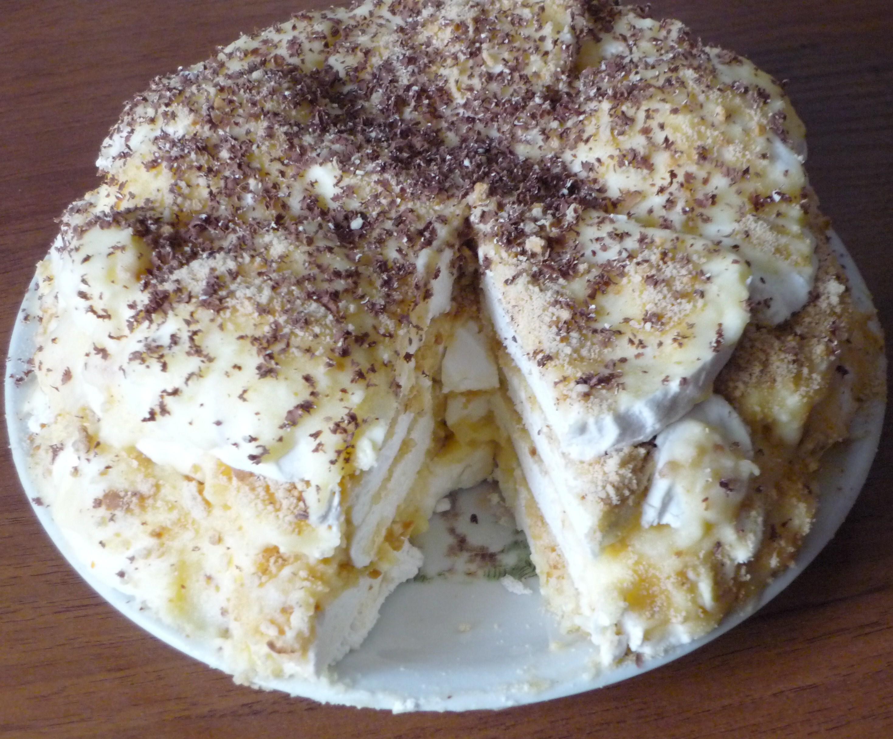 рецепт торта из печенья,зефир,