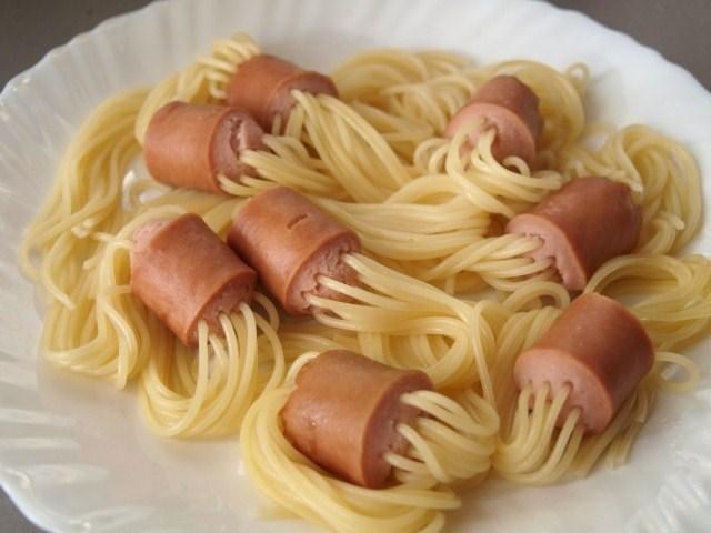 Как сделать блюда из сосисок