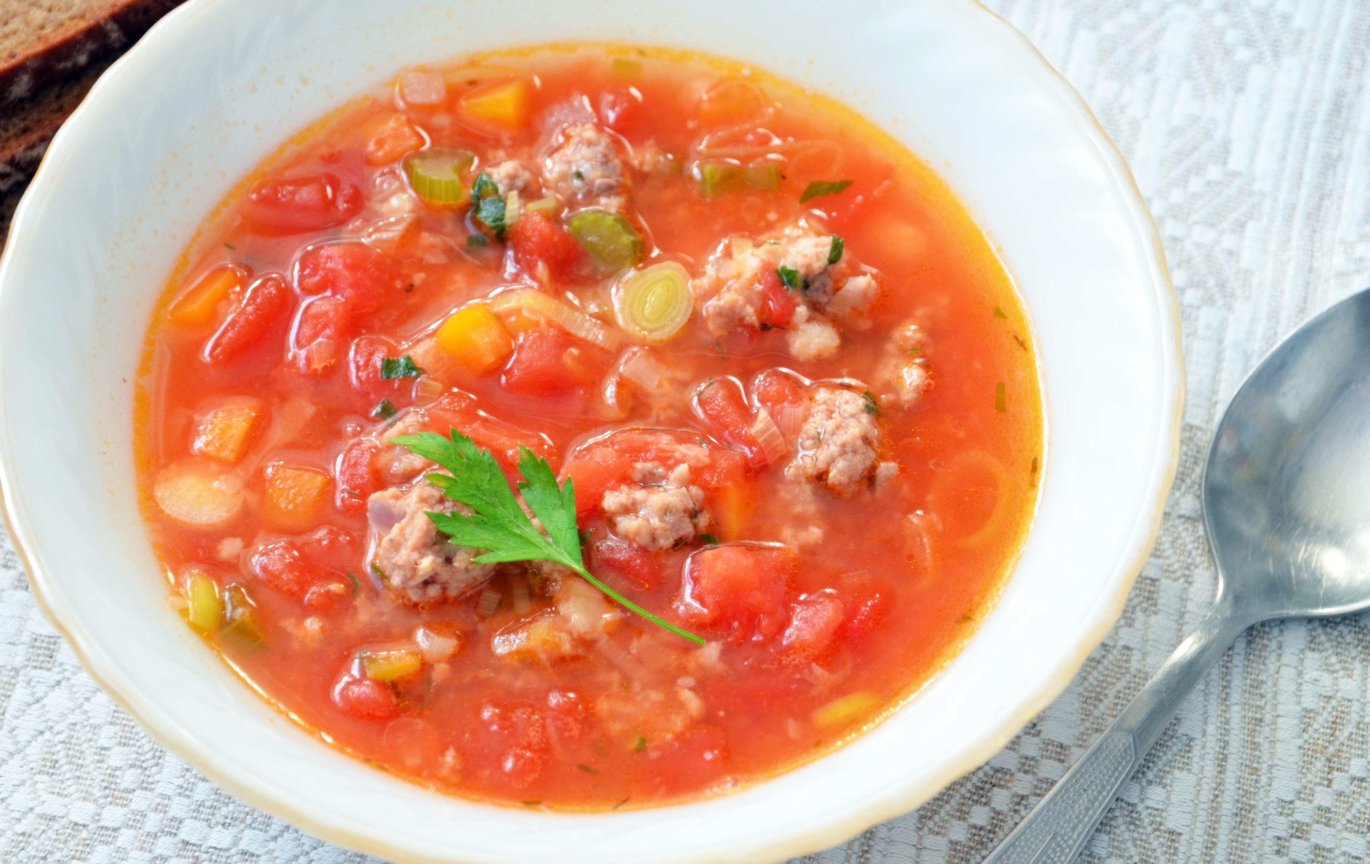 Томатный суп с фасолью и фрикадельками рецепт 49