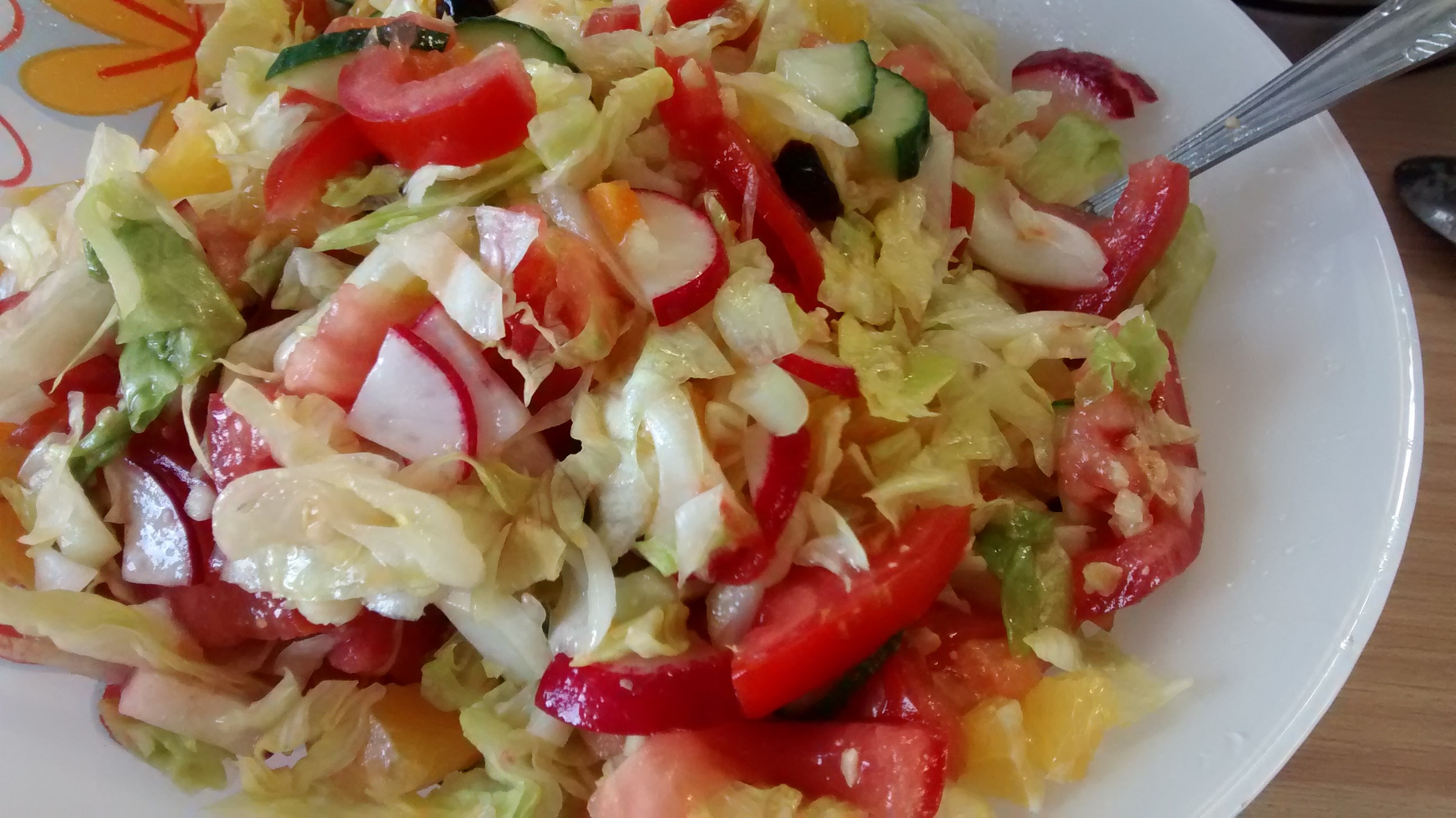 Простой салат из свежих овощей рецепт с