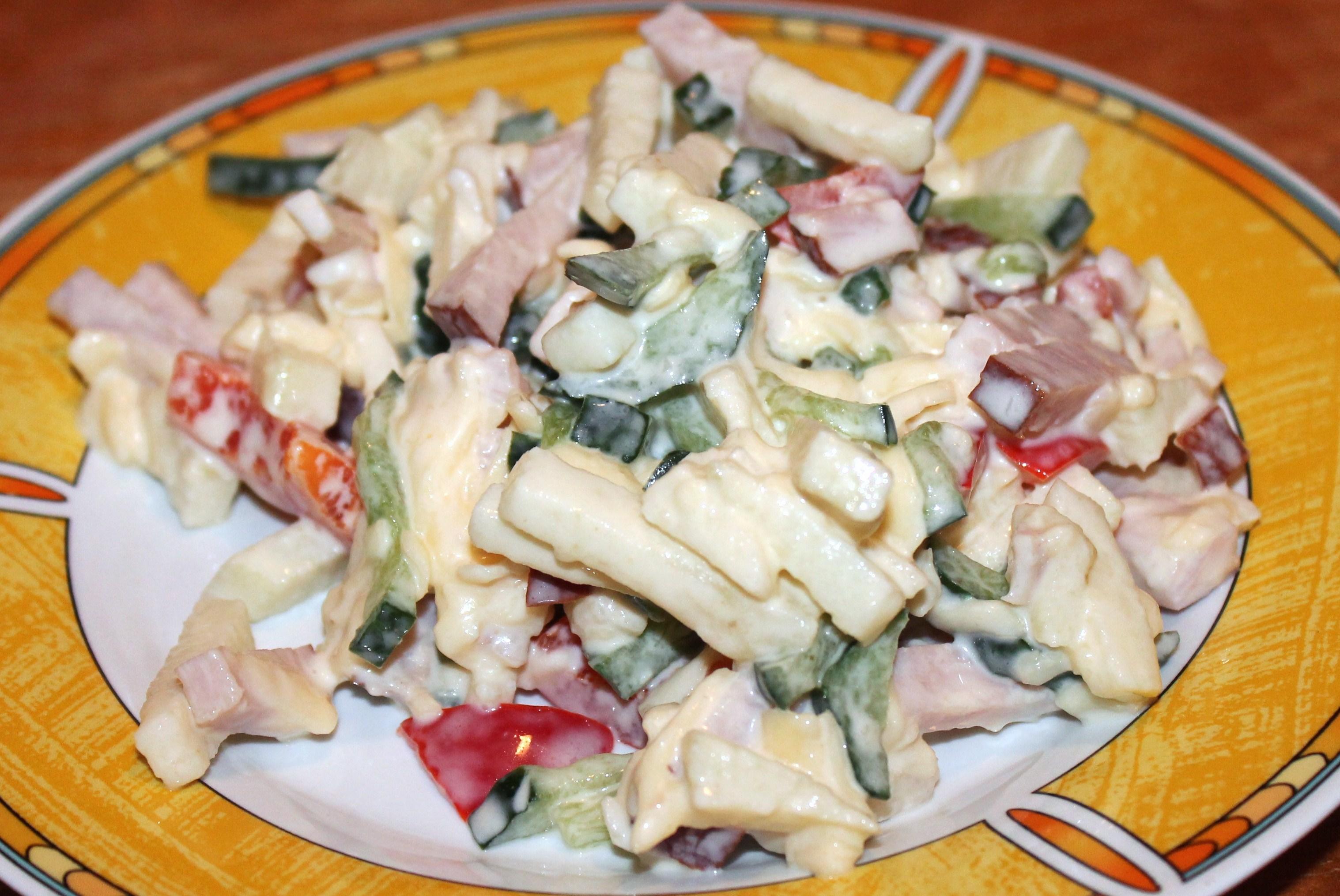 Рецепт салата из шампиньонов и свежих огурцов