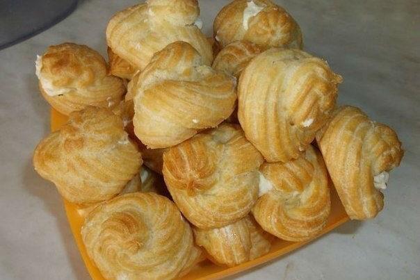 Пошаговый рецепт заварных пирожных