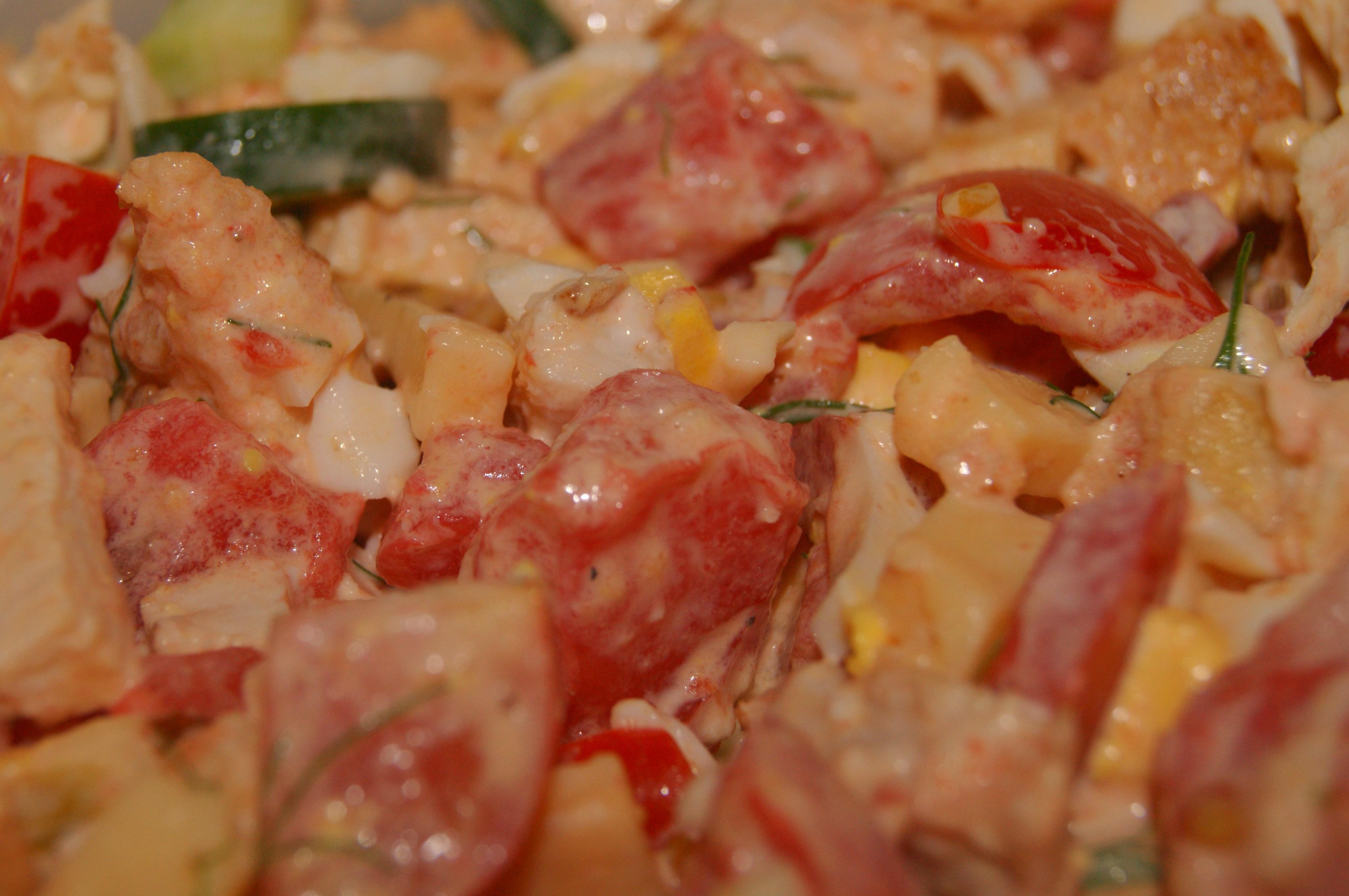 Салат из курицы с сыром рецепт очень вкусный