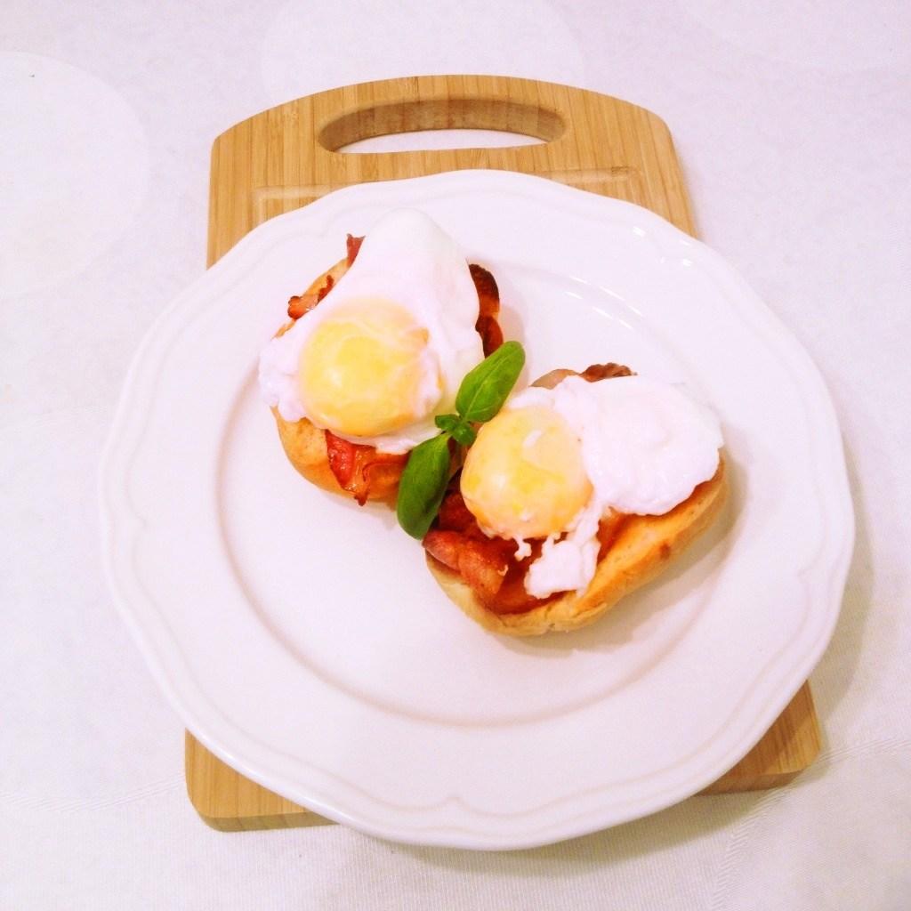 рецепт хлебе Яйцо фото пашот на с