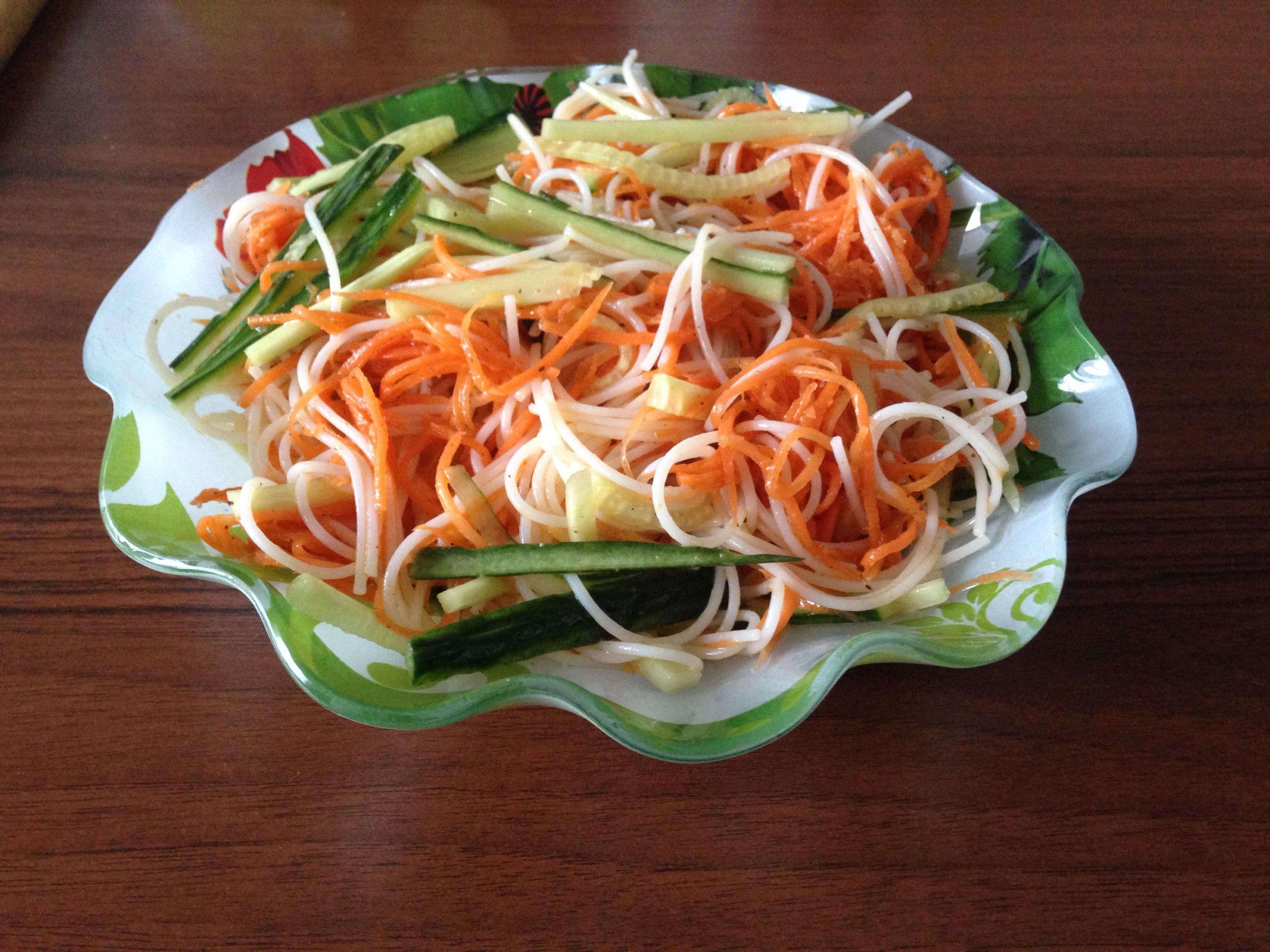 рецепты из фунчозы с корейской морковью