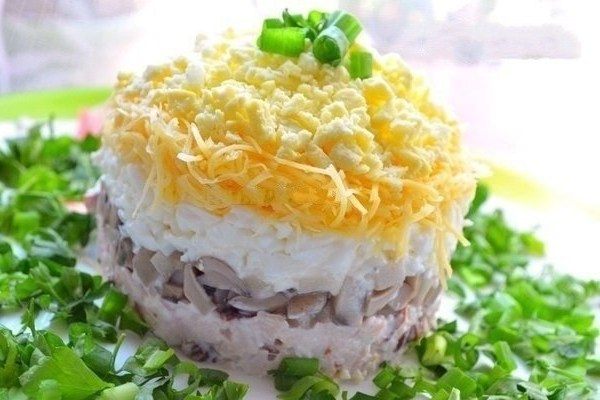 Салат с копч грудкой