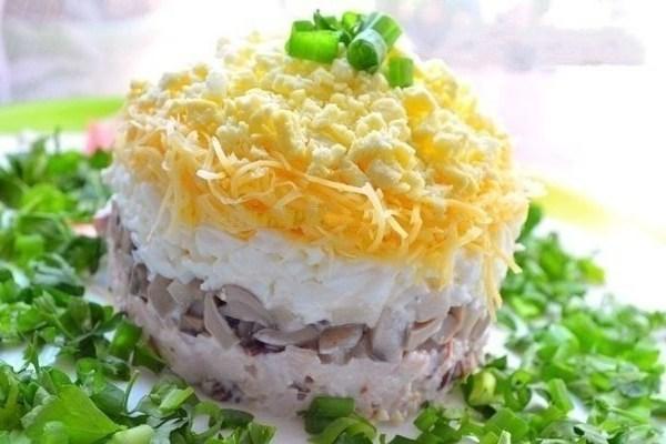 салат с копченой курицы рецепт