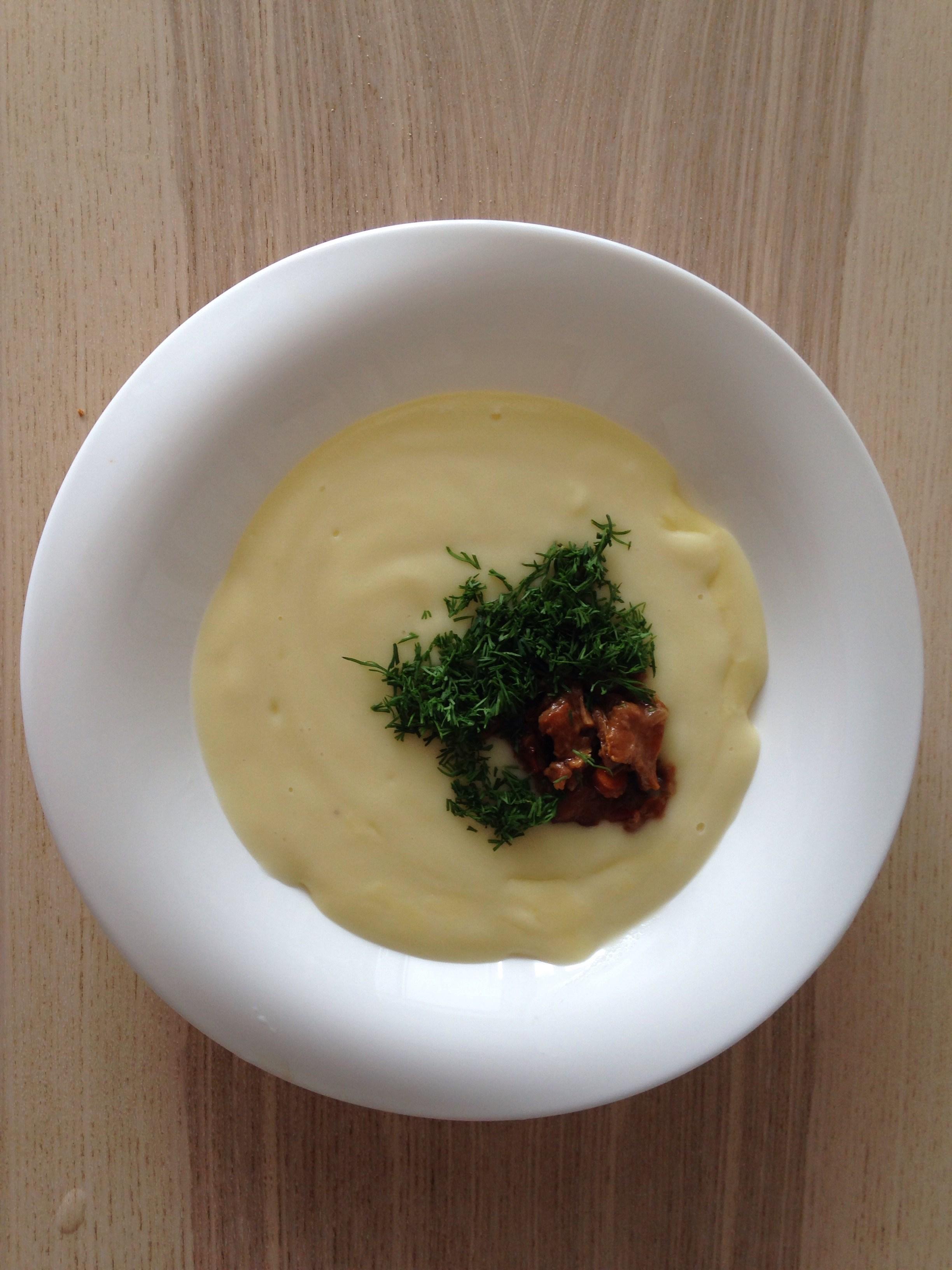 Молочный суп с лисичками рецепт