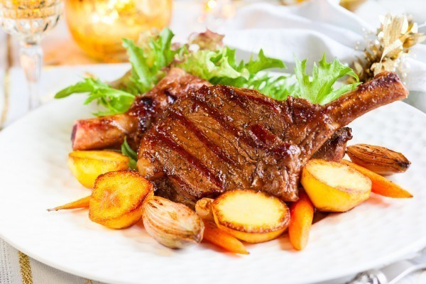 Мясо на косточке свинина