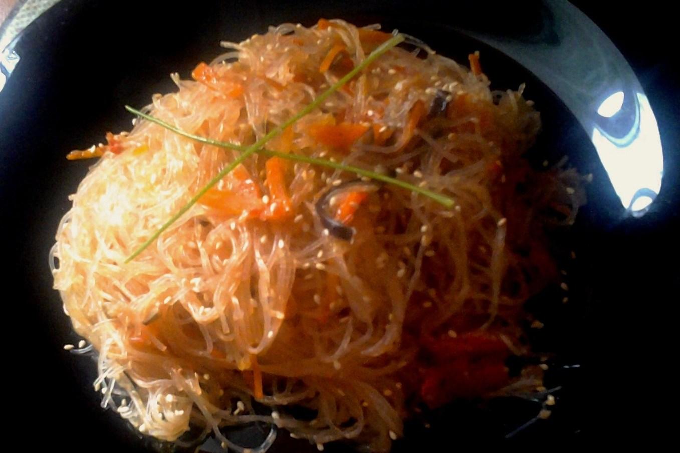 Фунчоза с овощами рецепт и пошаговым