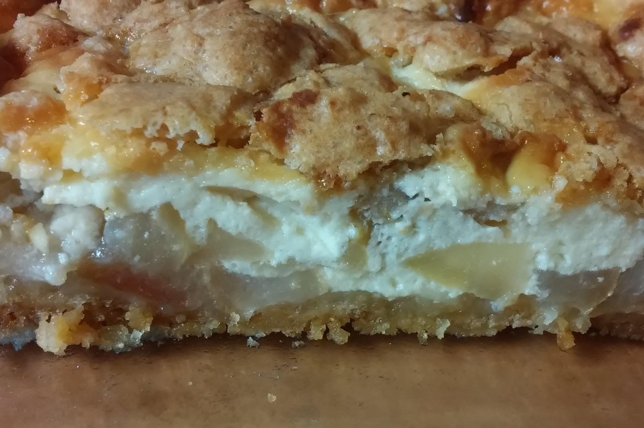 шарлотка с творогом и яблоками в духовке рецепт с фото