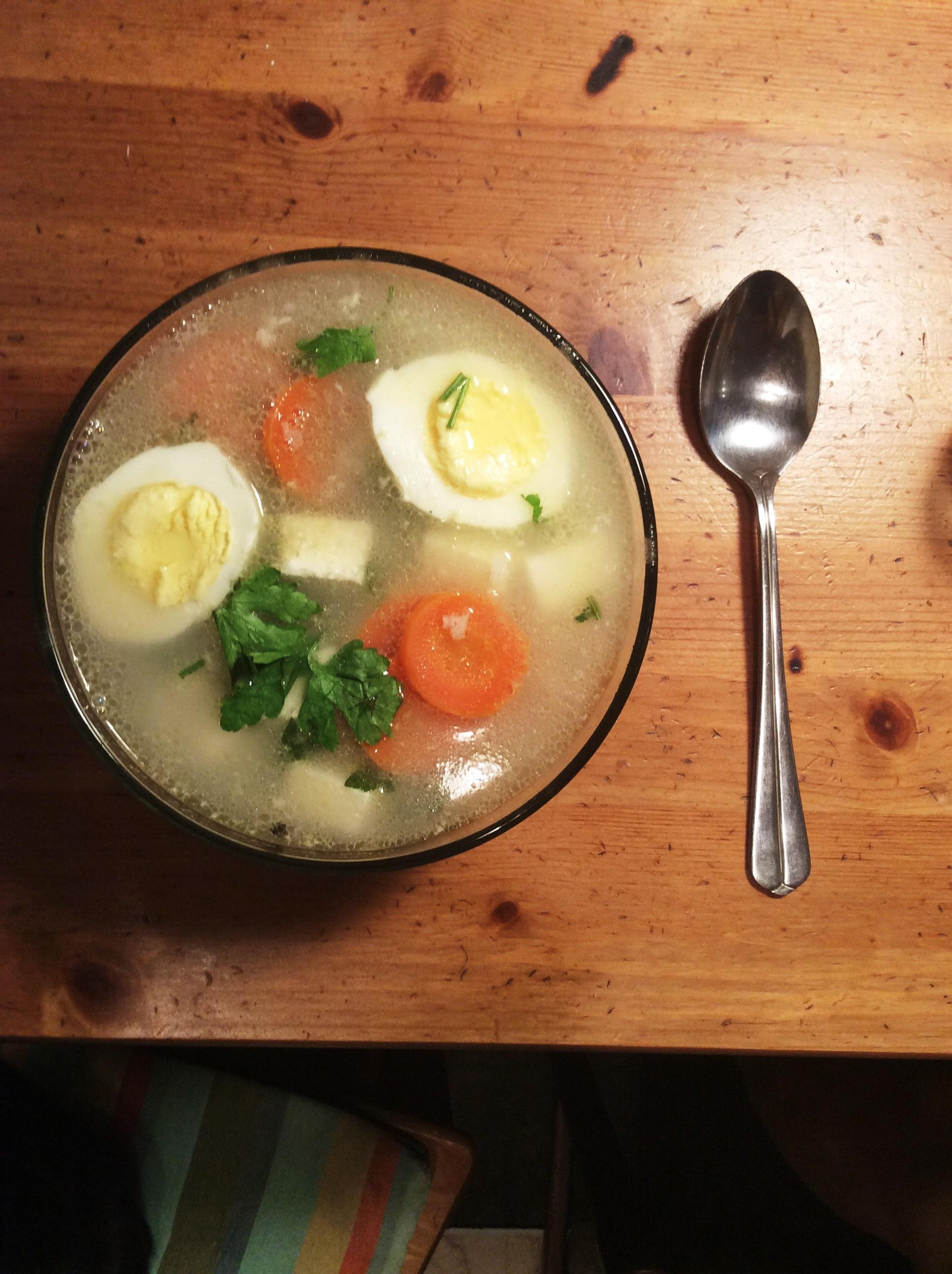 Рецепт суп с сырым яйцом рецепт