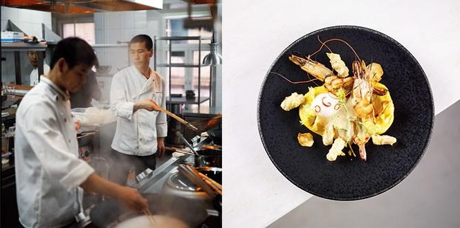 В ресторане «Зодиак» Мухин направляет в нужное ему русло мастерство поваров из самых разных стран Азии; и смело соединяет, например, поленту с креветками, сделанными в дальневосточном совершенно стиле.