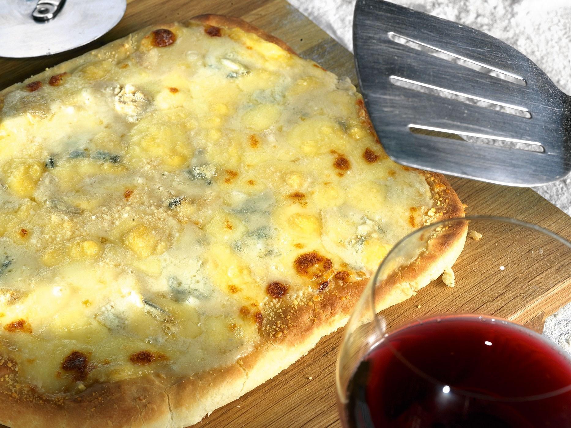 Пицца в черном хлебе рецепт