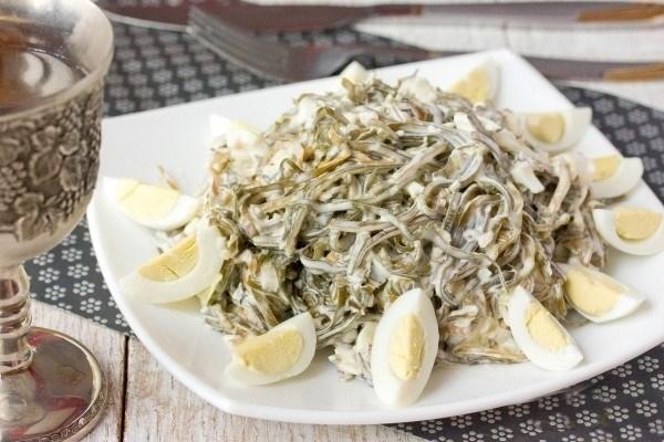 рецепт низкокалорийного сала с морской капустой