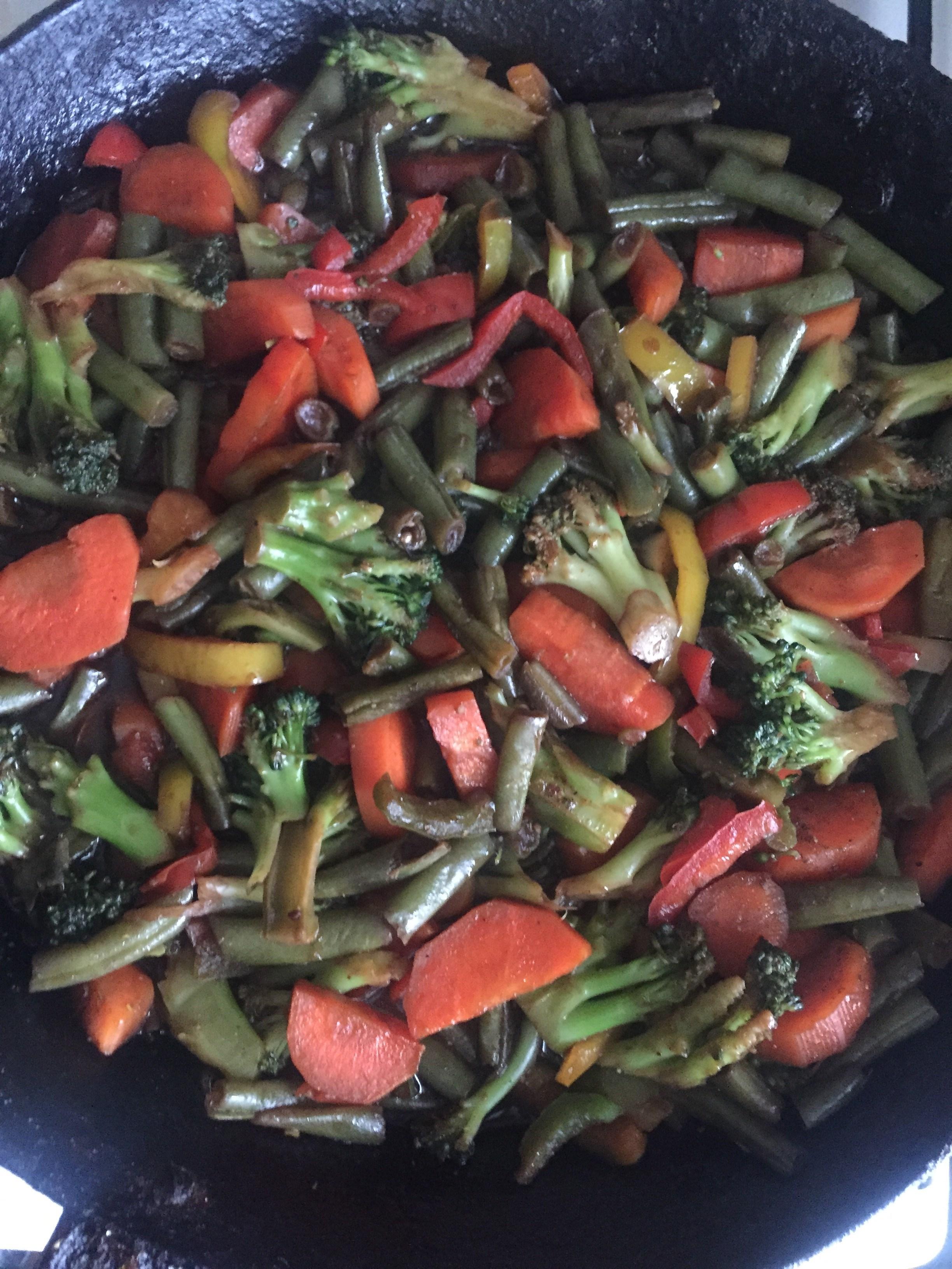 брокколи цветная капуста и стручковая фасоль рецепт
