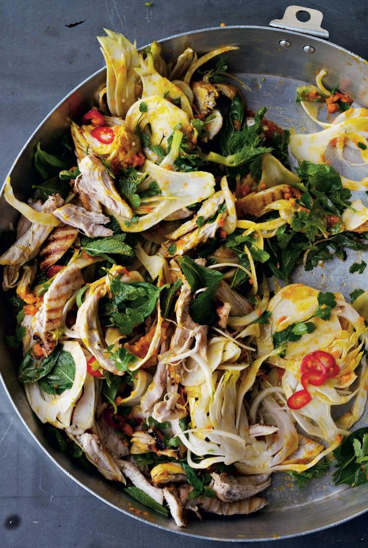 рецепты салатов с курицей и зеленью