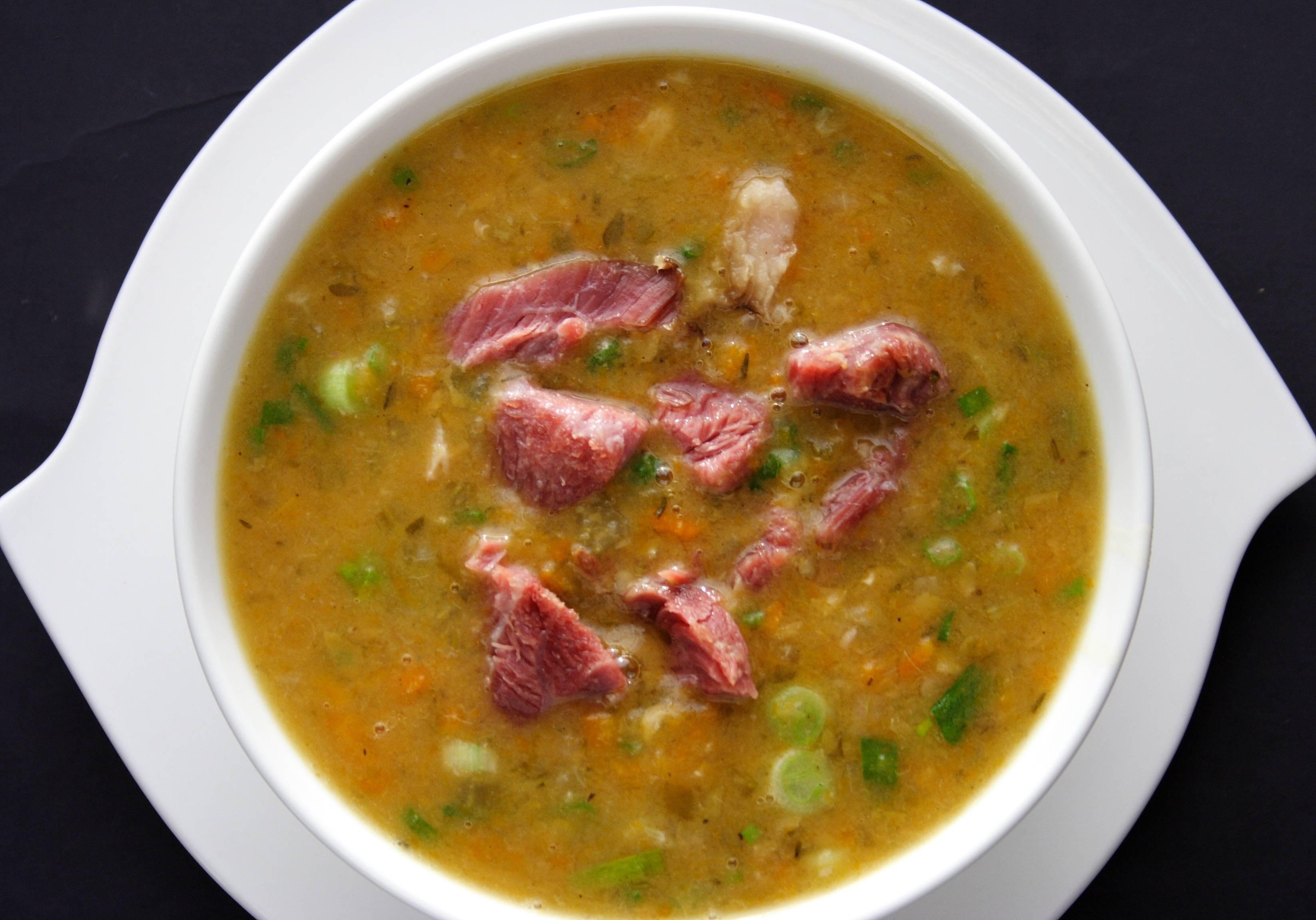 Суп с фрикадельками и копченой грудинкой — очень вкусный рецепт